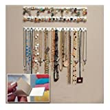 J.C Arts 9 in 1 Adhesive Paste Wall Hanging Storage Hooks Jewelry Display Organizer Necklace Hanger