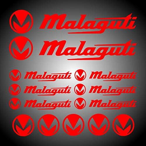 Myrockshirt Malaguti Sponsor Set Approx 30 Cm Sticker For Motorcycle Bike Scooter Moped Decal Tuning Sticker Auto