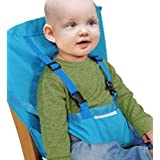 Baby Portable High Chair Seats Cover Safety Harness Toddler Foldable Safety Sack Belt, Light Blue