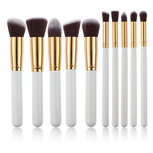 [Hot 10Pcs Pro Makeup Blush Eyeshadow Blending Set Concealer Cosmetic Make Up Brushes Tool Eyeliner Lip] (Dollar Jumbo Glasses)