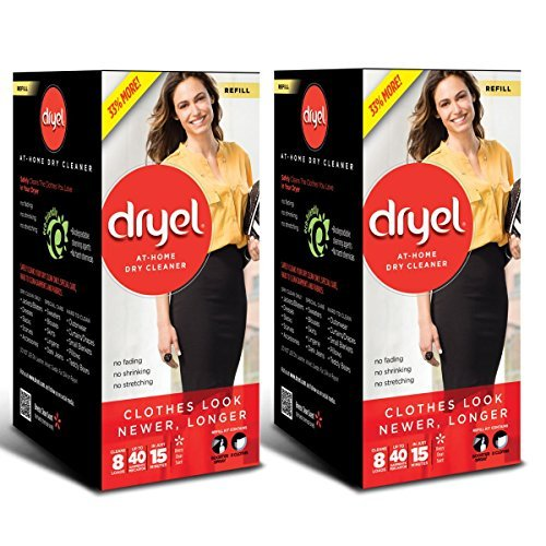 Dryel Dry Cleaner Refill Kit 8 count (Pack of 2)