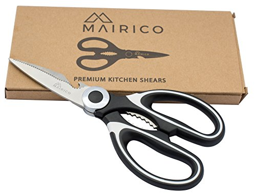 MAIRICO Ultra Sharp Premium Heavy Duty Kitchen Shears- Best Heavy Duty Scissors for Cutting Chicken, Poultry, Fish, Herbs, Meat and Poultry Bones