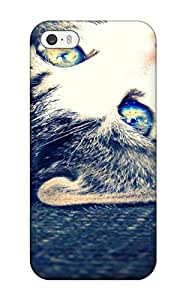 Snap-on Cat With Bright Eyes Animal Cat Case Cover Skin Compatible With Iphone 5/5s