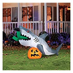 "9 Foot ""Caught By a Shark"" Animated Halloween Inflatable"