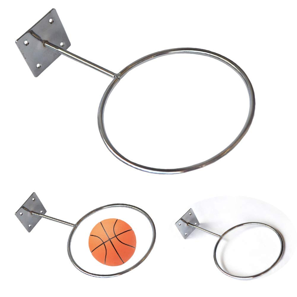 Basketball Holder Wall Mounted Sports Display Rack und Iron Screw Install Outdoor Durable Replacement Gym Professional Indoor Accessories