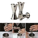 3PCS/set Stainless Steel Cocktail Drink Mixer Measuring Cup Jigger Measurer Set Bar Tools Wine Pourers