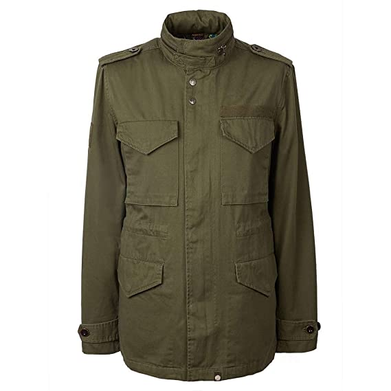 7e596e251e2af8 Pretty Green - M65 Jacket, Khaki, S: Amazon.co.uk: Clothing