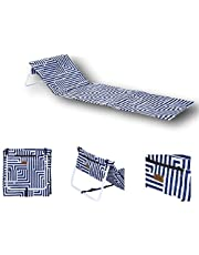 Outdoor Portable Folding Chair Beach Mat Ultra Light Fishing Sun Lounger Carry Strap Hotel/Vacation/Holidays/Sunbathing (Makena)