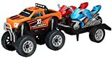 Kid Galaxy Ford F150 Pickup with Trailer & 2 Kawasaki Ninja Motorcycle (4 Piece), 13.5'' x 5'' x 5''