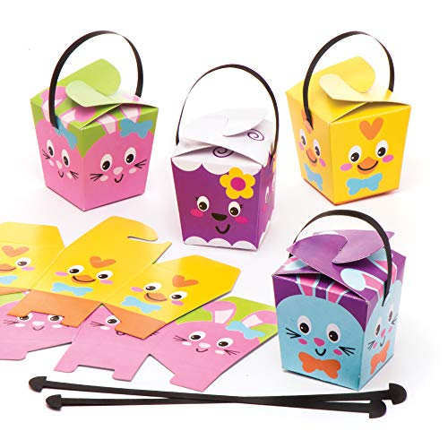 Baker Ross Easter Treat Boxes (Pack of 12) Easter Crafts for Kids to Assemble and Fill with Easter - Box Treat Easter