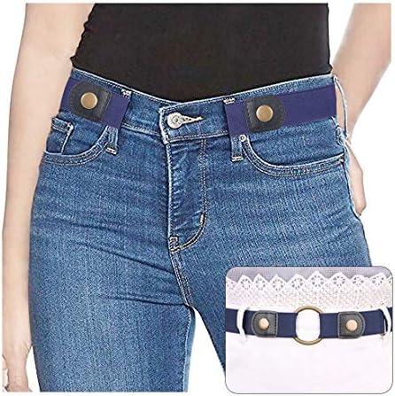 VBIGER Men Buckle-free Belt No Buckle Stretch Belt Elastic Waist Belt Up to 59 Length //1.38 Width for Jeans Pants