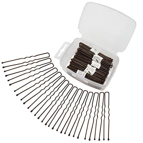 Velscrun 300 Pack U Shaped Hair Pins Bun Hair Pins Metal Bobby Pins Hair Clips for Hair Decoration (Brown) by Velscrun