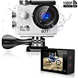 GJT GA1 Action Camera 1080P 12MP Full HD WiFi Sports Camera,30M Waterproof Cam DV Camcorder LCD screen, 170° Wide Angle Lens with Multi Accessories