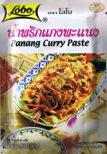 Thai Panang Curry Paste Lobo Brand 50 Grams Product of Thail