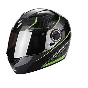 Scorpion Casco Moto exo-490Vision, Black/Green, L