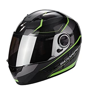 Scorpion Casco Moto exo-490 Vision, Black/Green, XS