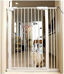 Huo Auto Cerrado Barrera de Seguridad Montado A Presión Puerta de La Escalera para Escaleras Puertas Pasillo (Size : 61-71cm): Amazon.es: Hogar