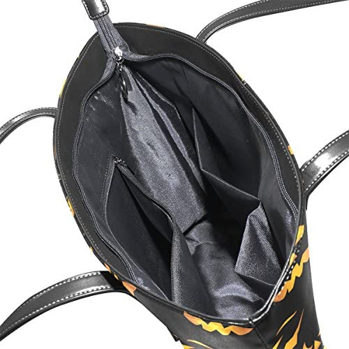 COOSUN Halloween Kürbisse Muster PU Leder Schultertasche Handtasche und Handtaschen Tasche für Frauen