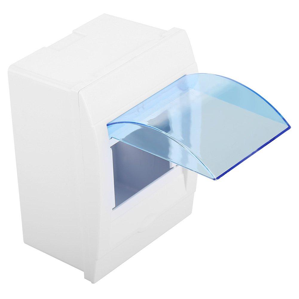 Bo/îte de Distribution Bo/îtes de Disjoncteurs Coffret /à Fusibles en Plastique 3-4 Voies dEnergie Murale avec Couvercle Transparent