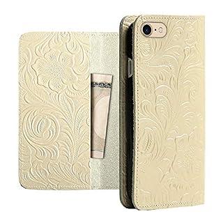 iPhone 7/8 Japan Carved Flower Case Gold
