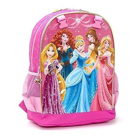 Disney Store Mochila Princesas Escolar Rapunzel Princesa Aurora Bella: Amazon.es: Juguetes y juegos