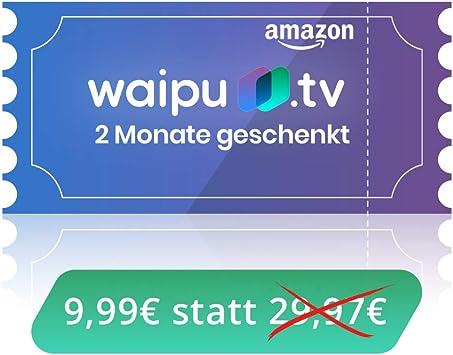Waipu.TV – Código de cupones   TV de aplicación para Fire TV y Smartphone, 3 Meses por el Precio de 1 Digitaler Versand (E-Mail): Amazon.es: Electrónica