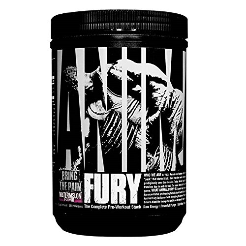 Animal Fury Pre Workout Powder Supplement - Energize Your Workout With More Focus, Energy, Endurance and Pumps, Watermelon - 30 Servings