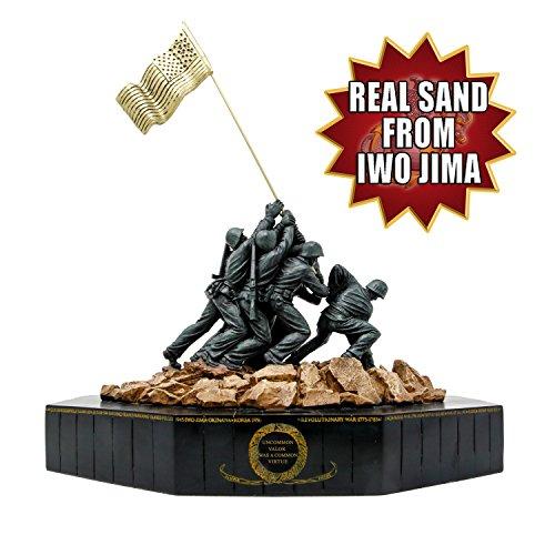 (Large Marine Corps Iwo Jima Statue with Actual Sand from Iwo Jima)
