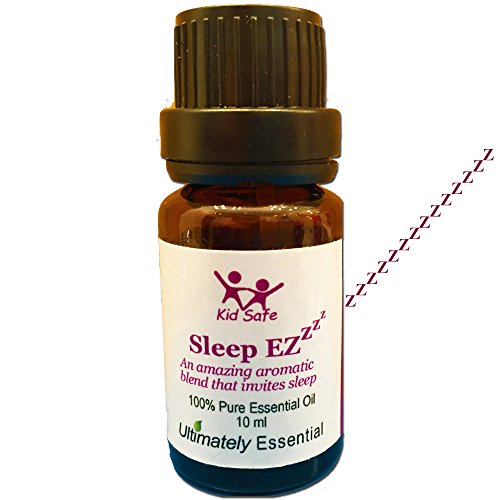 "Ultimately Essential ""Sleep EZ"" Oil Blend of Lavender, Clary Sage, Sweet Orange, Sweet Marjoram, Bergamot, Ylang Ylang – Wondrous, Awesome Aroma That Will Relax & Soothe You to Sleep Every Night–10 ml"