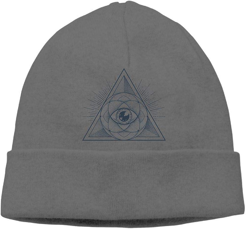 Oopp Jfhg All-Seeing Eye Beanie Knit Hat Skull Caps Mens DeepHeather