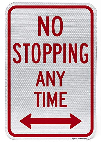 Sign Double Arrow (NO Stopping Any TIME with Double Arrow Sign 12