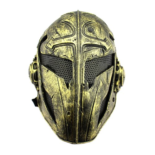 Cool Knights Templar Protective Wire Mesh Mask for Airsoft Paintball Display (Glod)]()