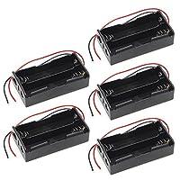 VDK 5PCS 2x 186503.7V batteria ricaricabile plastica Holder box case con filo metallico