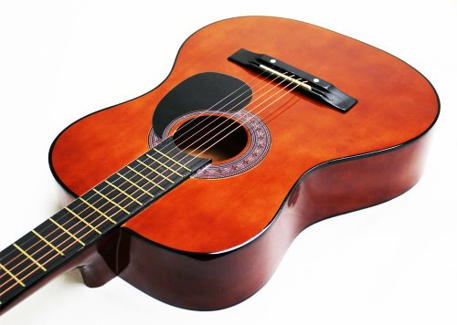 38-Inch Beginner Acoustic Guitar Starter Pack with Gig Bag, Strap, Pitch Pipe, and Pick - Sunburst Cutaway