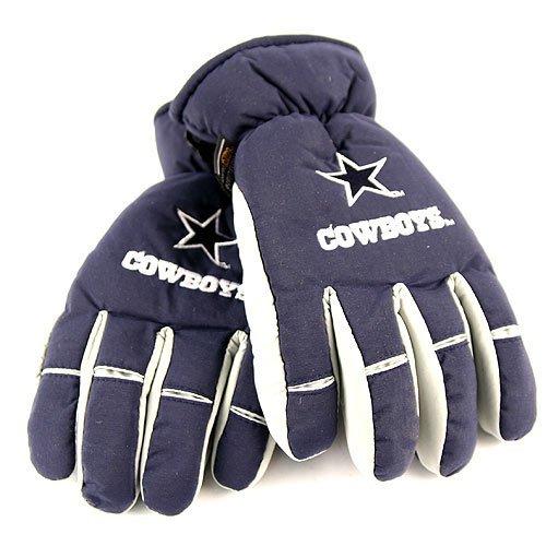 NFL Dallas Cowboys 2 Tone Thinsulate Ski Gloves Size Large X-Large