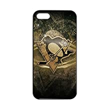 NHL Team Logo-Iphone 5/5s/SE Case Pittsburgh Penguins for Boys, Vintage NHL Pittsburgh Penguins Silicone Case Cover for Iphone 5S Tough