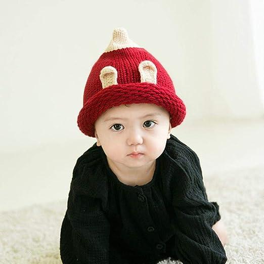 Myzixuan Sombreros de los niños otoño Lana Invierno Tejer Gorros ...