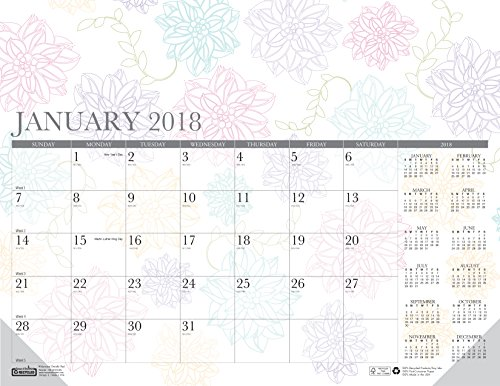House of Doolittle 2018 Monthly Desk Pad Calendar, Whimsical Doodle Color, 22 x 17 Inches, January - December (HOD188-18)