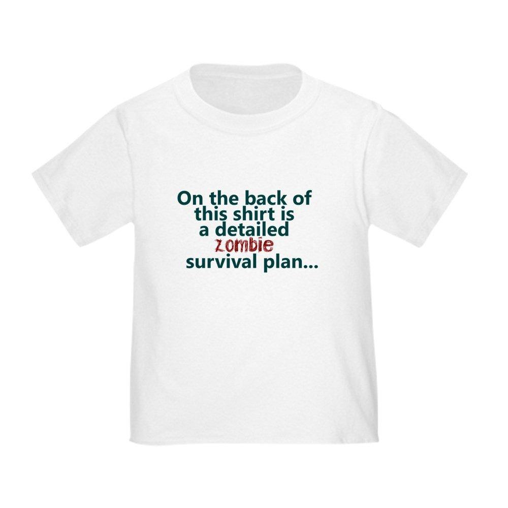 CafePress Zombie Survival Plan Toddler Toddler Tshirt