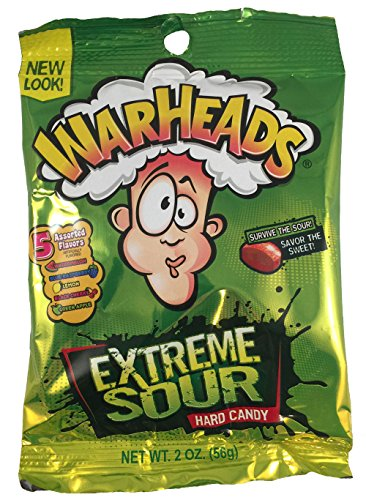 Warheads Extreme Sour Hard Candy, 2 Oz, (Pack of 3) (De Extremo A Extremo Halloween)