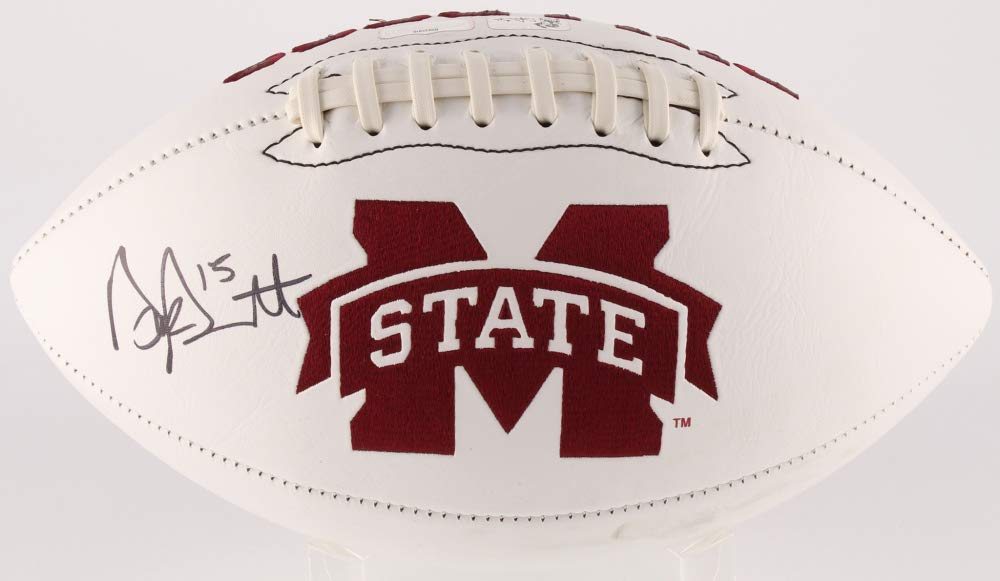 Dak Prescott Mississippi State University Signed Autograph Embroidered Logo Football Dak Player Hologram Radke Sports Certified