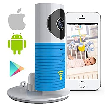 SEGMOI® Smart Baby Monitor with P2P Night Vision Record Video, Surveillance System Security Camera Compatible With iPhone & Android. Wifi Enabled Nanny Cam, 2 Way Talkback With Motion activated Cell Alerts (Blue) CLV-DGB