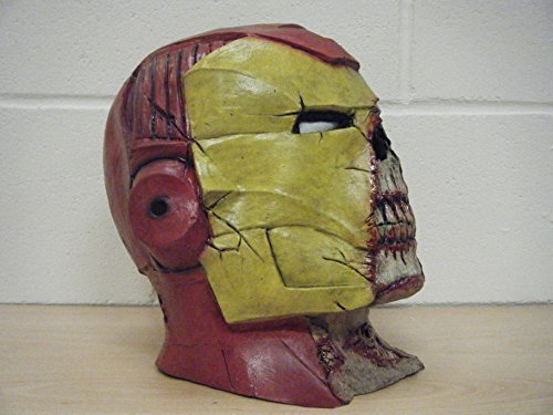 WRESTLING MASKS UK Men's Deluxe Halloween Latex Ironman Halloween Mask One Size (Halloween Horror Masks Uk)