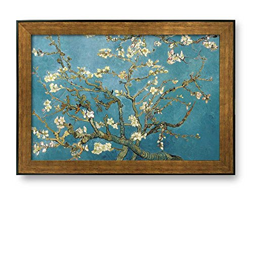 Framed Art Almond Blossoms by Vincent Van Gogh Interpretation in OriginalReproduction Famous Painting Wall Decor