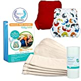 Tidy Tots Diaper Hassle Free 4 Diaper Snap Essential Set (Whales/Red)