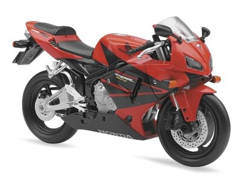 New Ray Toys Street Bike 1:12 Scale Motorcycle - CBR600R Red 2006 (Bike Diecast Motorcycle)