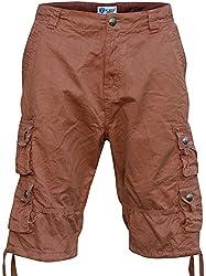 Worior Men's Soft Cotton Multi-Pocket Cargo Shorts (30, Khaki Camo)