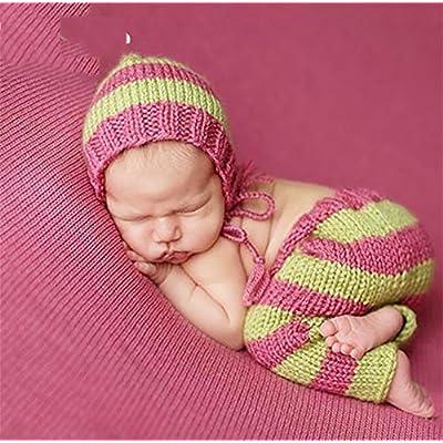 PEPEL Unisexe pour bébé nouveau-né photographie Prop Costume couleur mignon rayures Cap Jeans/Pantalons