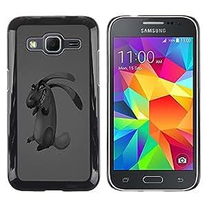 "For Samsung Galaxy Core Prime / SM-G360 , S-type Perro del Mal"" - Arte & diseño plástico duro Fundas Cover Cubre Hard Case Cover"
