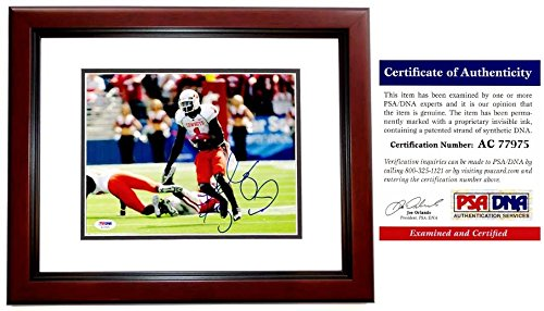 Dez Bryant Signed - Autographed Oklahoma State Cowboys 8x10 inch Photo MAHOGANY CUSTOM FRAME - PSA/DNA Certificate of Authenticity (COA) - Dallas Cowboys